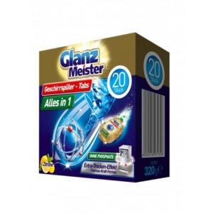 Glanz Meister таблетки д/посудомойних машин 20 шт
