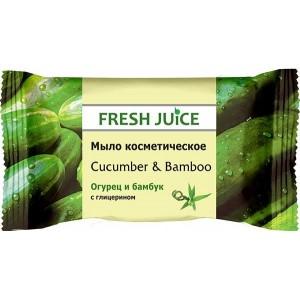 """""""FJ"""" Мыло косметическое """"Cucumber & Bamboo"""" 75г"""