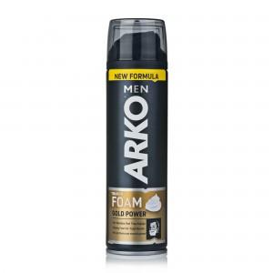 Пена для бритья ARKO мужская Gold Power, 200мл
