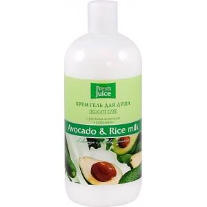 """FJ"" Крем-гель для душа ""Avocado & Rice milk"" 500мл"