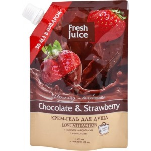 """FJ"" Крем-гель для душа ""Chocolate&Strawberry"" ДОЙ-ПАК 200мл"
