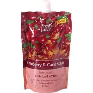 """""""FJ"""" Гель для душа """"Cranberry&Cane sugar"""" ДОЙ-ПАК 170 мл"""