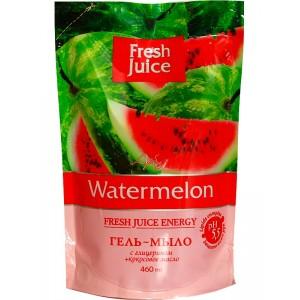 """""""FJ"""" Гель-мыло с глицерином """"Watermelon"""" (арбуз) ДОЙ-ПАК 460мл"""