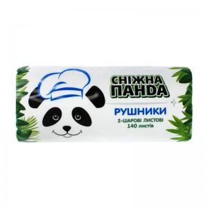 """ТМ """"Сніжна Панда"""" рушники листові 2 шари 140 листів * 24"""