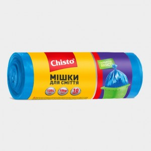 Мешки для мусора «Chisto», 120л х 10шт.