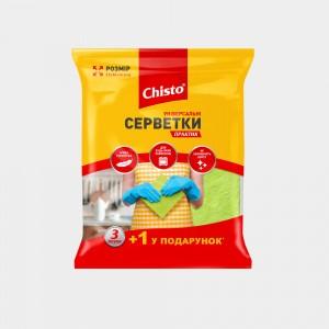 Салфетки универсальные Практик «Chisto», 3+1 шт.