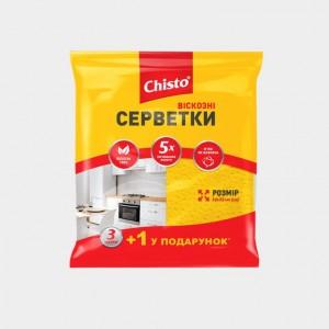 Салфетки вискозные «Chisto», 3+1 шт.