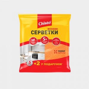 Салфетки вискозные «Chisto», 5+2 шт.