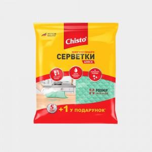 Салфетки влаговпитывающие Блеск «Chisto», 5+1 шт.