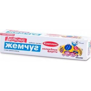 Зубная паста «Детский Жемчуг Волшебные фрукты», 50 мл