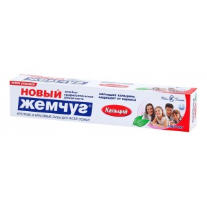 Зубная паста «Новый Жемчуг Кальций», 75 мл